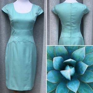 Maggy London Vintage Turquoise sheath dress